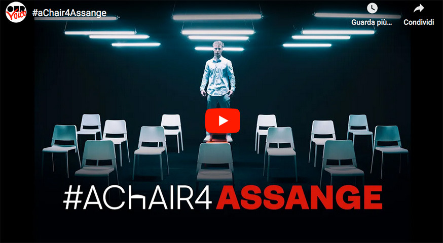 #aChair4Assange: disponibile ora su YouTube